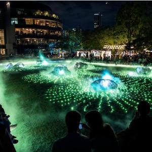 東京ミッドタウンで巨大なデジタルアート庭園