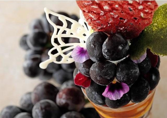 京丹後産ぶどう品種が主役のパフェ ウェスティン都ホテル京都