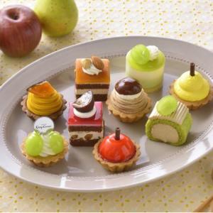 かぼちゃ、栗、マスカット...秋のプチケーキが100点満点!コージーコーナー行かなきゃ。