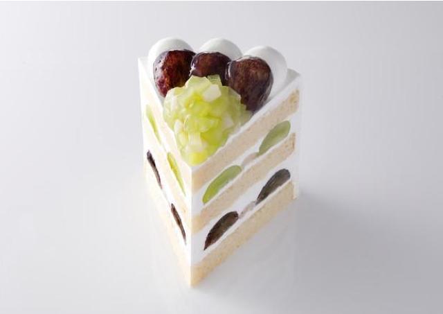 1日3個限定!大粒のブドウが輝く贅沢ショートケーキ