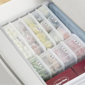 【100均】こういうの欲しかった!「立てて置ける保存容器」冷凍庫スッキリだわ~。