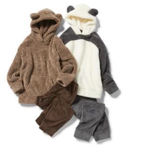 GUふわもこパジャマの季節。今年はクマ&パンダ!どっちも可愛すぎる。