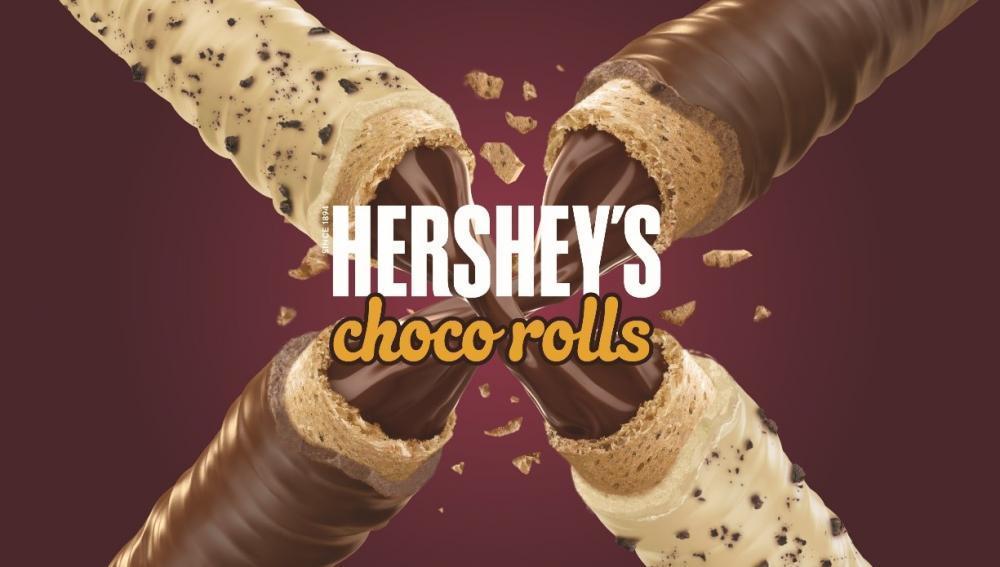 ハーシーの「チョコロール」日本デビュー!ヘーゼルナッツクリーム、めっちゃ美味しそう。