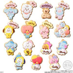 「BT21」のクッキー風チャーム付き商品が可愛すぎ!全15種類コンプしたい。